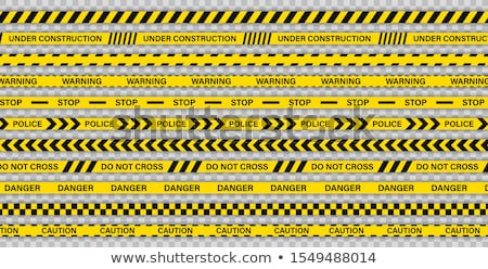 Vector Police line do not cross tape on white Stock photo © Elisanth