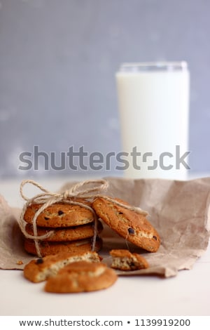 Butter cookies wit glass of milk Stock photo © Alex9500