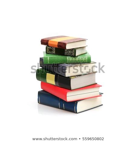 libros · aislado · blanco · libro · naranja - foto stock © AndreyKr