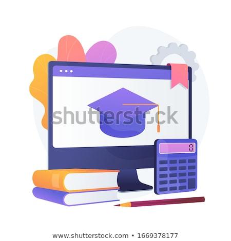 Maths online course vector concept metaphor. Stock photo © RAStudio