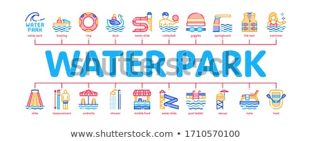 Amusement Park Minimal Infographic Banner Vector Stock photo © pikepicture