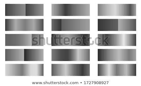 metallic silver or platinum gradients combinations set Stock photo © SArts