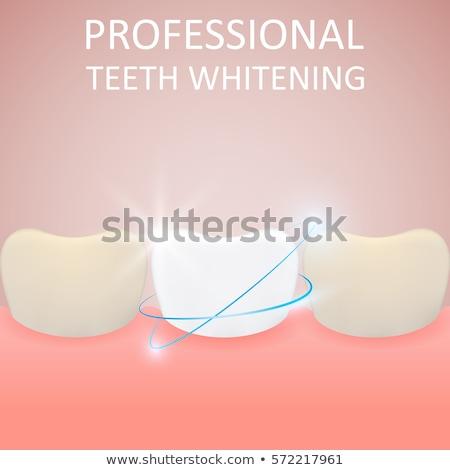 Profissional saudável amarelo dente desenho animado Foto stock © natali_brill