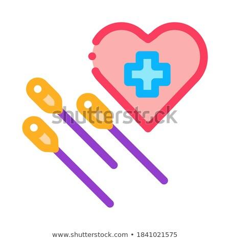 Acupunctuur hart werk icon vector schets Stockfoto © pikepicture