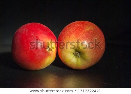 nat · rode · appel · detail · donkere · Maakt · een · reservekopie · Rood - stockfoto © ruslanomega