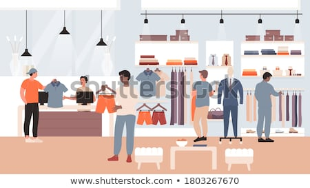 Manequim compras parede mercado armazenar feminino Foto stock © Paha_L