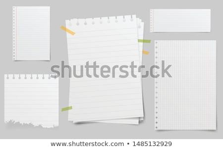 Notebook twee opgerold achtergrond onderwijs Stockfoto © wingedcats