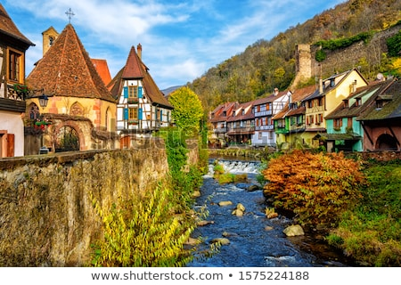 Stock photo: Village In Alsace France