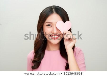 roze · symbolen · geïsoleerd · witte · 3D - stockfoto © phbcz