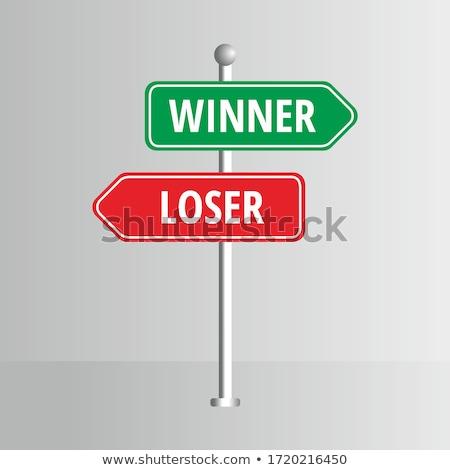 Vencedor perdedor xadrez mão tabela branco Foto stock © photocreo
