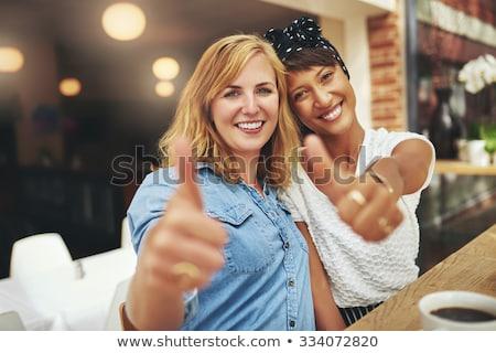 deux · ethniques · filles · ensemble · asian - photo stock © ampyang