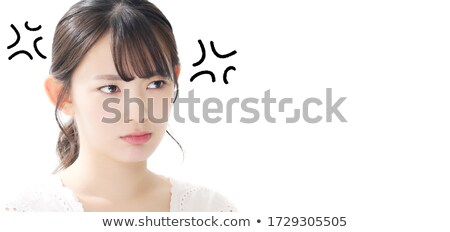 Boos huisvrouw ongelukkig vrouw wassen badkamer Stockfoto © smithore