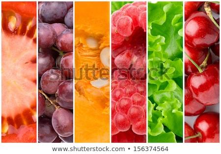 healthy food collage stock photo © ozaiachin