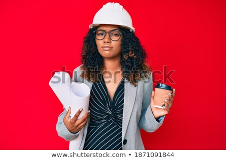 architect unsure about blueprints stock photo © photography33