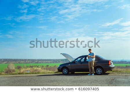 Man waiting for roadside assistance Stock photo © photography33