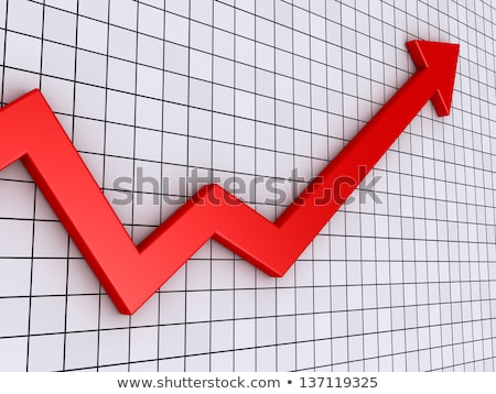 financial business stat and red arrow stock photo © 4designersart