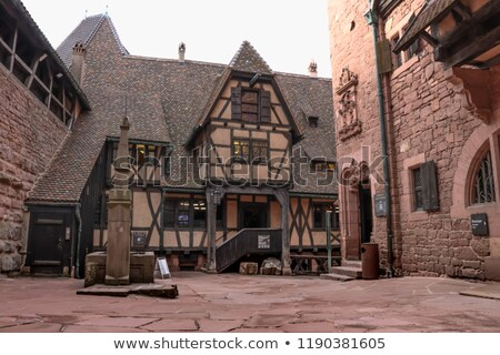 courtyard of the Haut-Koenigsbourg Castle Stock photo © prill