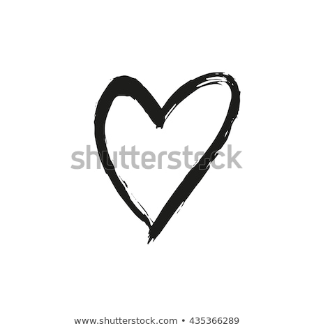 Heart painted with brush. Stock photo © Sylverarts