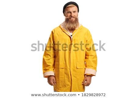 ハンサム · 笑みを浮かべて · ポーズ · 手 · ジーンズ · ポケット - ストックフォト © stockyimages