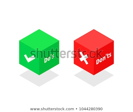 green cube with check sign on boxes stock photo © marinini