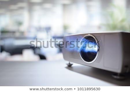Vídeo proyector aislado blanco Screen Foto stock © HectorSnchz