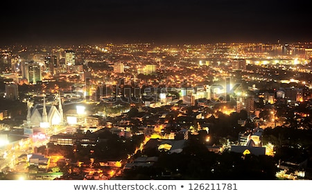 Metro Cebu at night Stock photo © joyr