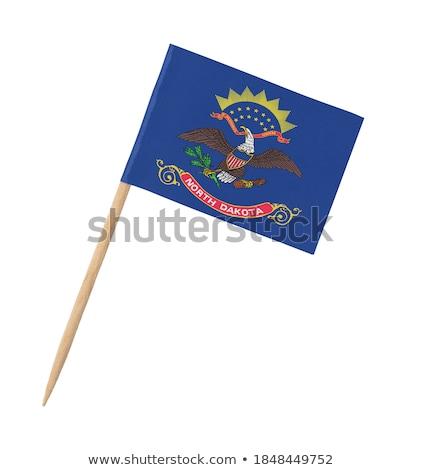 minyatür · bayrak · Kuzey · Dakota · yalıtılmış · toplantı - stok fotoğraf © bosphorus