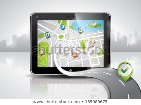 Vecteur carte illustration brillant pda appareil Photo stock © articular