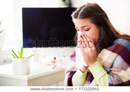 menselijke · sinus · ademhalings · holte · Blauw · cijfer - stockfoto © lightsource