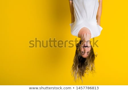 Girl Hanging Upside Down Stock photo © 2tun