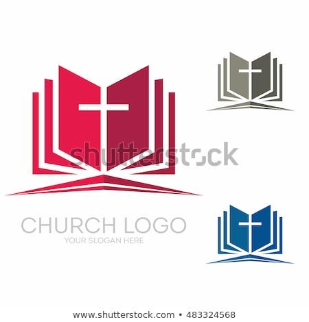 Stok fotoğraf: Vector Icon Bible And Cross