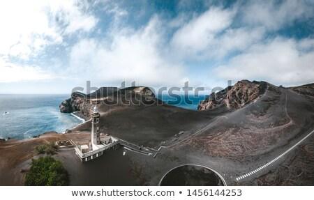 vulkaan · vulkanisch · landschap · eiland · hemel · water - stockfoto © dinozzaver