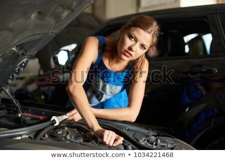 Female mechanic holding spanner stock photo © wavebreak_media