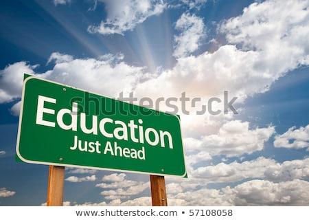 Stok fotoğraf: Eğitim · öğrenme · mavi · bilgisayar · okul