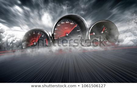 Tacho High-Speed- Auto Geschwindigkeit Macht schnell Stock foto © dacasdo
