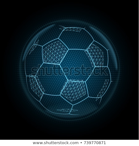 vector glow circle with soccer ball stock photo © x-etra