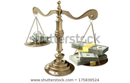 dólares · trancado · cadeia · branco · negócio · fundo - foto stock © lunamarina