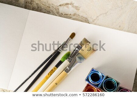painting brushes of various sizes stock photo © lunamarina
