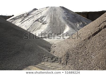 colorful construction sand mound quarry variety stock photo © lunamarina