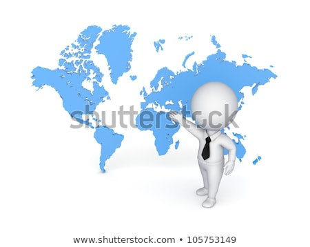 3D · küçük · adam · küreler · beyaz · kişi - stok fotoğraf © karelin721