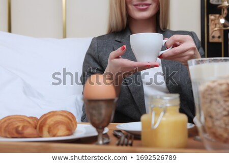 beautiful blonde  holding hands in boil Stock photo © chesterf