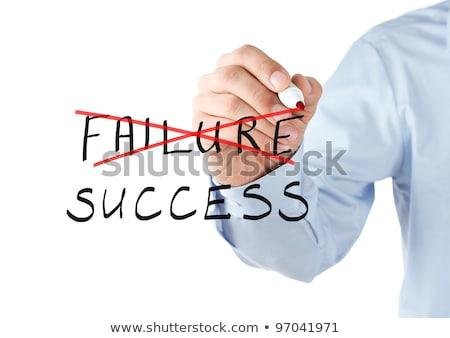Fuera fracaso escrito éxito azul concepto Foto stock © latent
