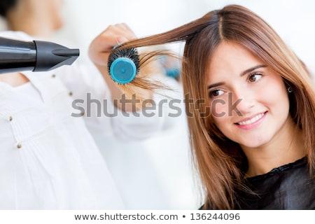 haren · kapsalon · kapper · meisje · mode · schoonheid - stockfoto © podsolnukh