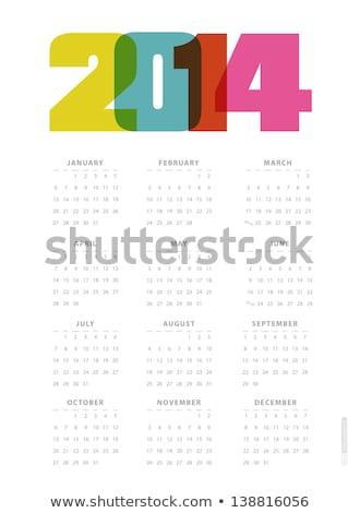 2014 nieuwjaar nieuwe jaren tekst doopvont Stockfoto © Wetzkaz