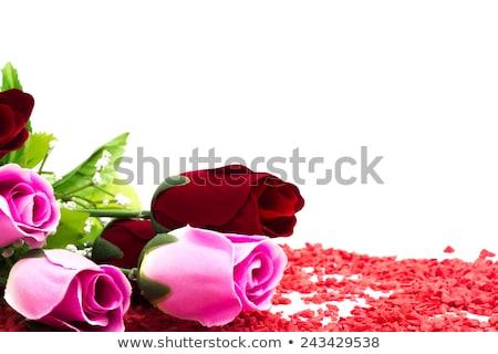 tahta · kalp · siyah · tebeşir · beyaz · kırmızı - stok fotoğraf © inxti