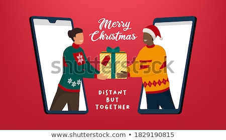 Stock photo: Christmas Phone