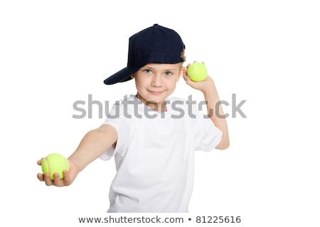 幸せ · 少年 · ボール - ストックフォト © get4net