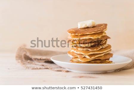 自家製 パンケーキ スタック パンケーキ ホット 準備 ストックフォト © silkenphotography