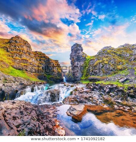 Scenic Falls in the Wild Mountains Stock photo © wildnerdpix