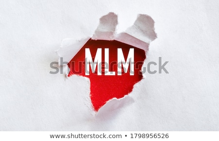 Mlm Rood tekst geïsoleerd witte marketing Stockfoto © tashatuvango